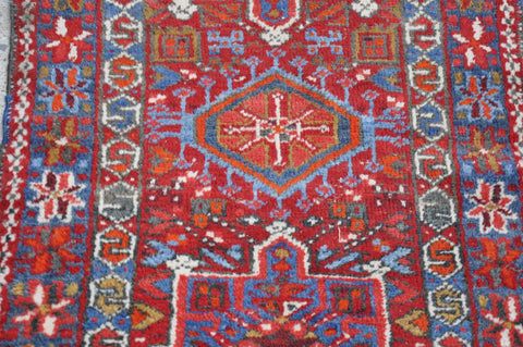 Image of Antique Red Persian Karadja Rug -2′5″ × 4′1″
