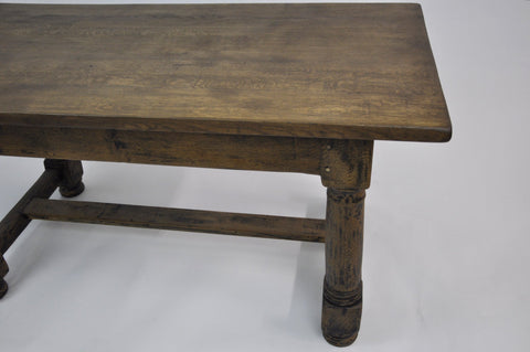 Image of Rare 18c French Farmhouse Country Oak Dining Table, Unique