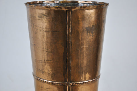 Vintage Handcrafted Copper & Brass Drinking Glass