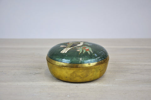Vintage French Candy Copper Box