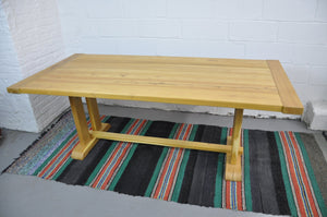 Acacia Trestle Farmhouse Dining Table