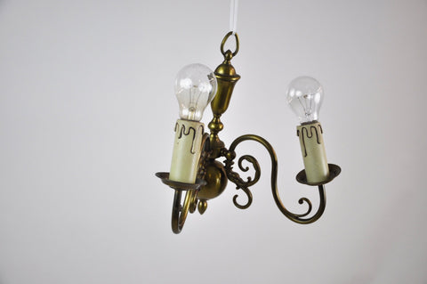 Image of French Bronze Vintage Wall Sconce Light