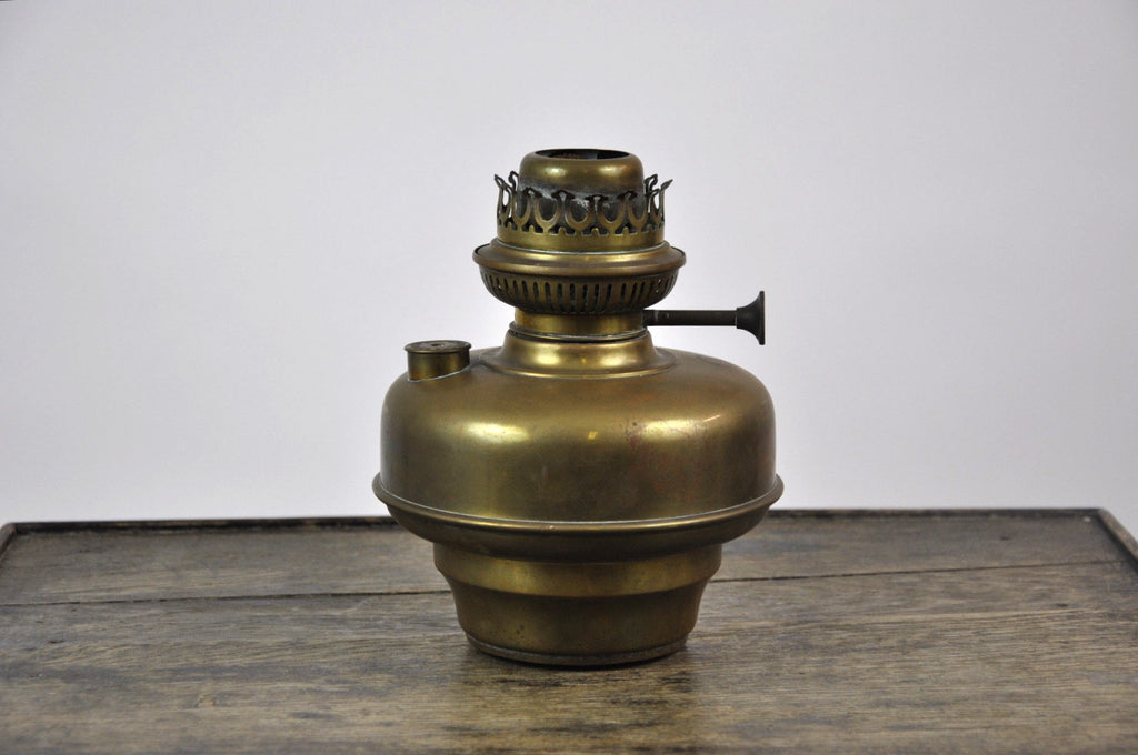 Antique Original Belgian L&G Brevets Brass Oil Hand Lamp c.1900's