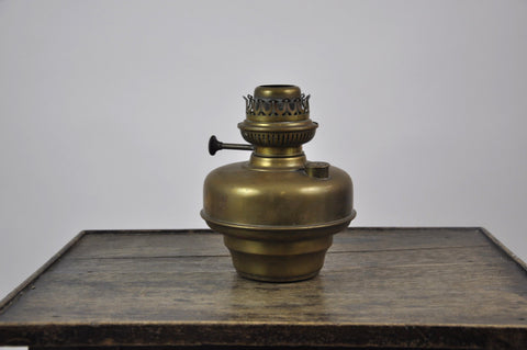 Image of Antique Original Belgian L&G Brevets Brass Oil Hand Lamp c.1900's