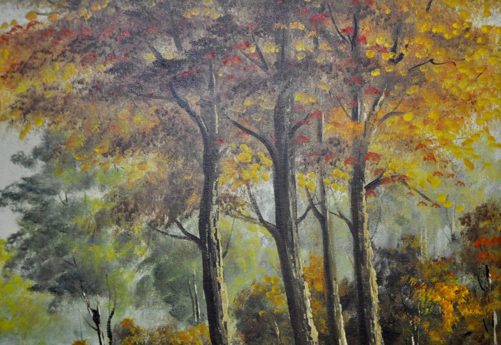 Dutch Countryside Fall Landscape, Oil on Canvas Painting, S. Blok,