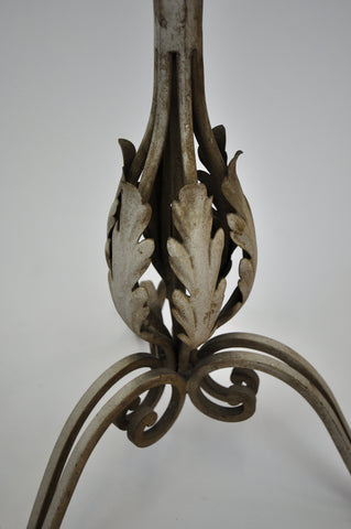 Image of Antique Vintage Wrought Iron Foliate Floor Lamp