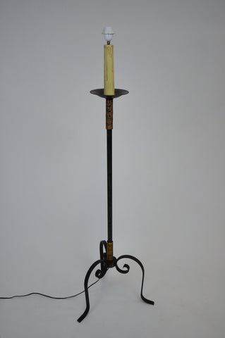 Image of Vintage Iron Rustic Candlelight Floor Lamp