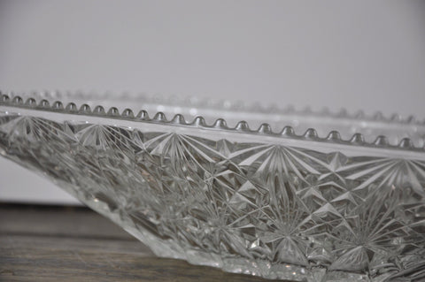 Image of Vintage 1960's Cristal D'Arques 24 Lead Crystal Fruit Bowl Fructiere