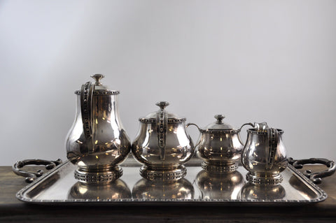 French Silverplated Coffee Tea Serving Set - 5 Pieces