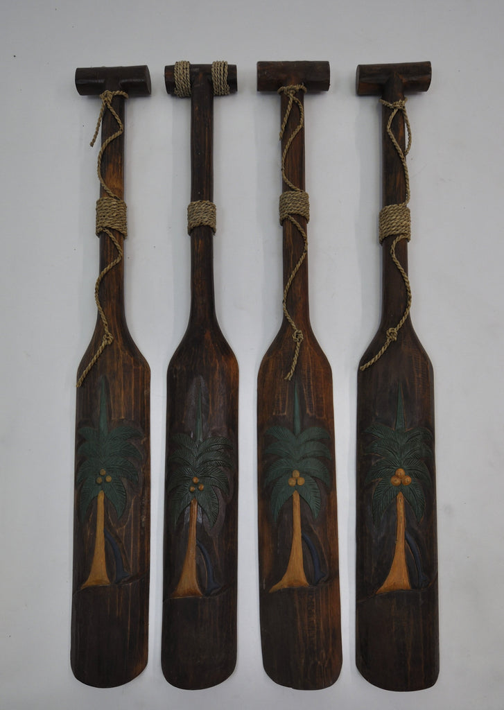 Set of 5  Handmade Wooden Oars