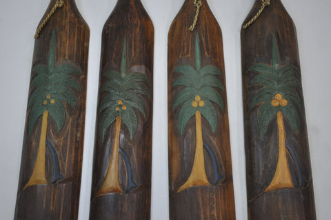Image of Set of 5  Handmade Wooden Oars