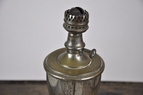 Antique French 1900's Tin Trophy Shaped Oil Lamp