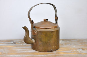 Antique French Handmade Copper Teapot