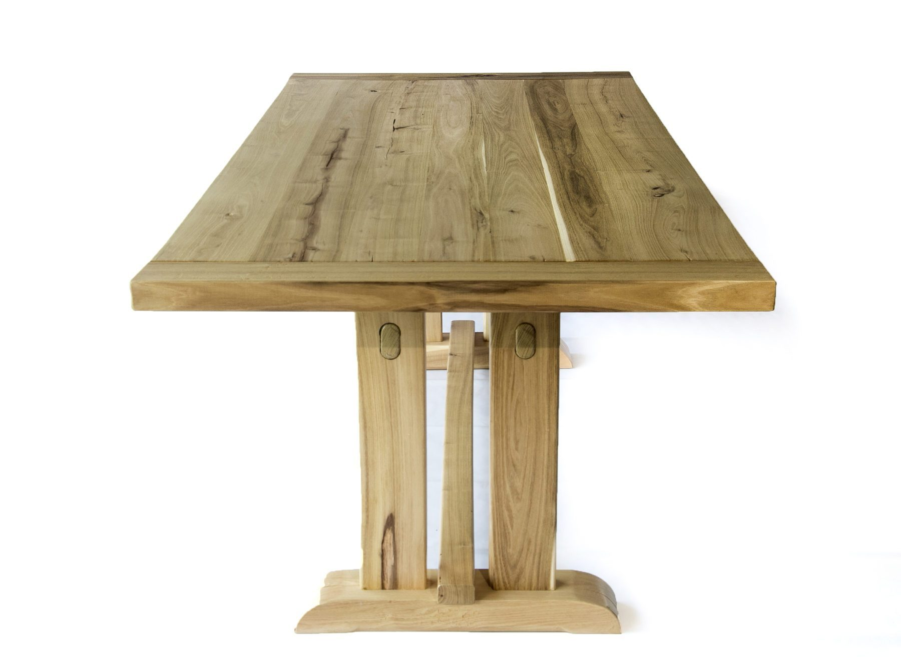 Handcrafted solid acacia reclaimed wood handmade trestle dining table - Handmade wooden dining tables ...