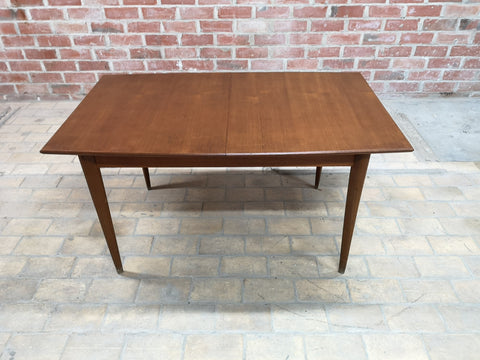 Mid-Century Modern Rectangular Danish Design Extending Dining Table