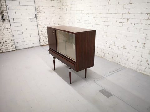 Image of Retro 70s Vintage Danish Mid-Century Modern Display Storage Cabinet Buffet Part of Set