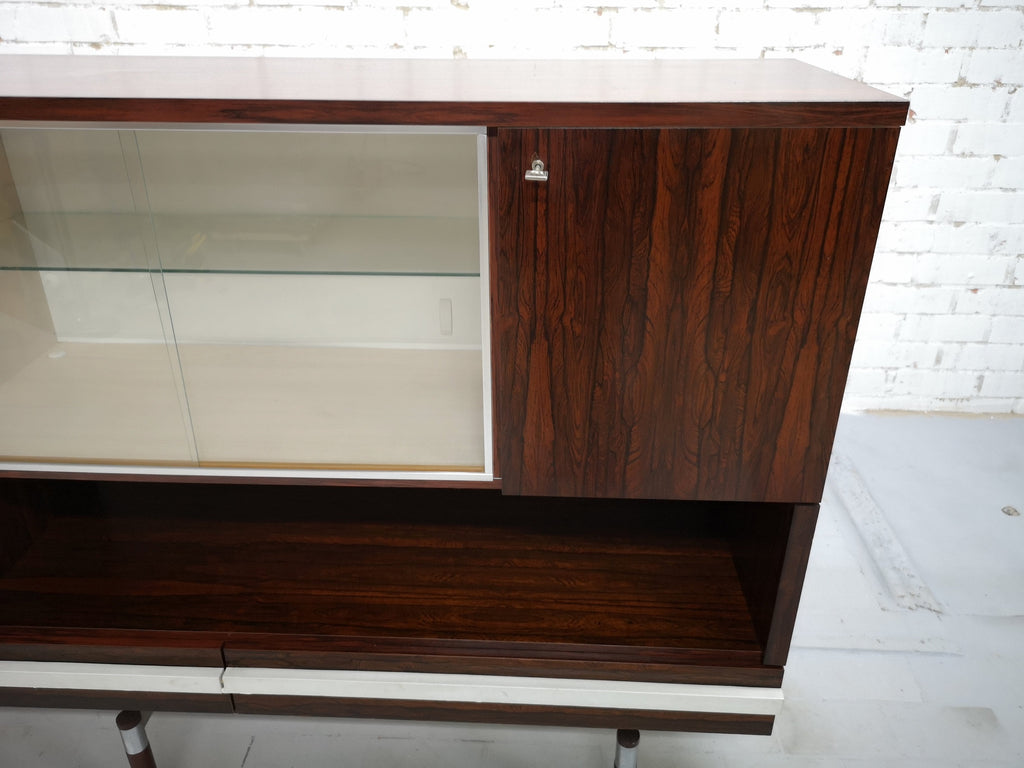 Retro 70s Vintage Danish Mid-Century Modern Display Cabinet Sideboard Buffet Part of Set