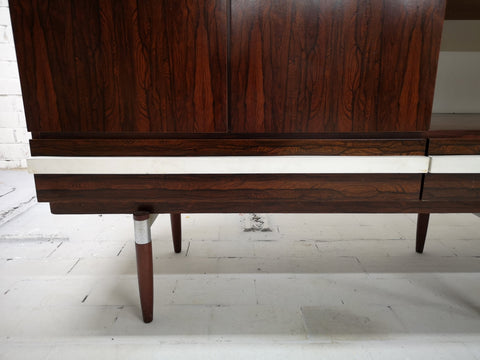Image of Retro 70s Vintage Danish Mid-Century Modern Display Cabinet Sideboard Buffet Part of Set