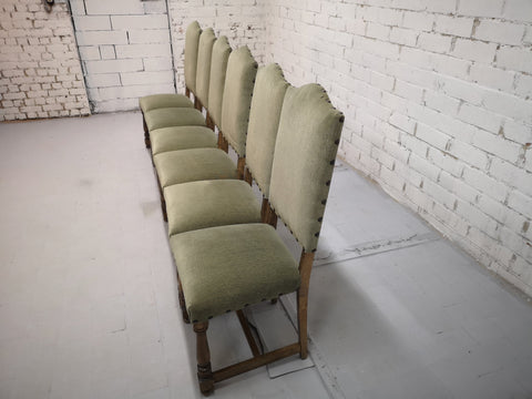 Set of 6 French Vintage Arch-Top High Back Dining Chairs