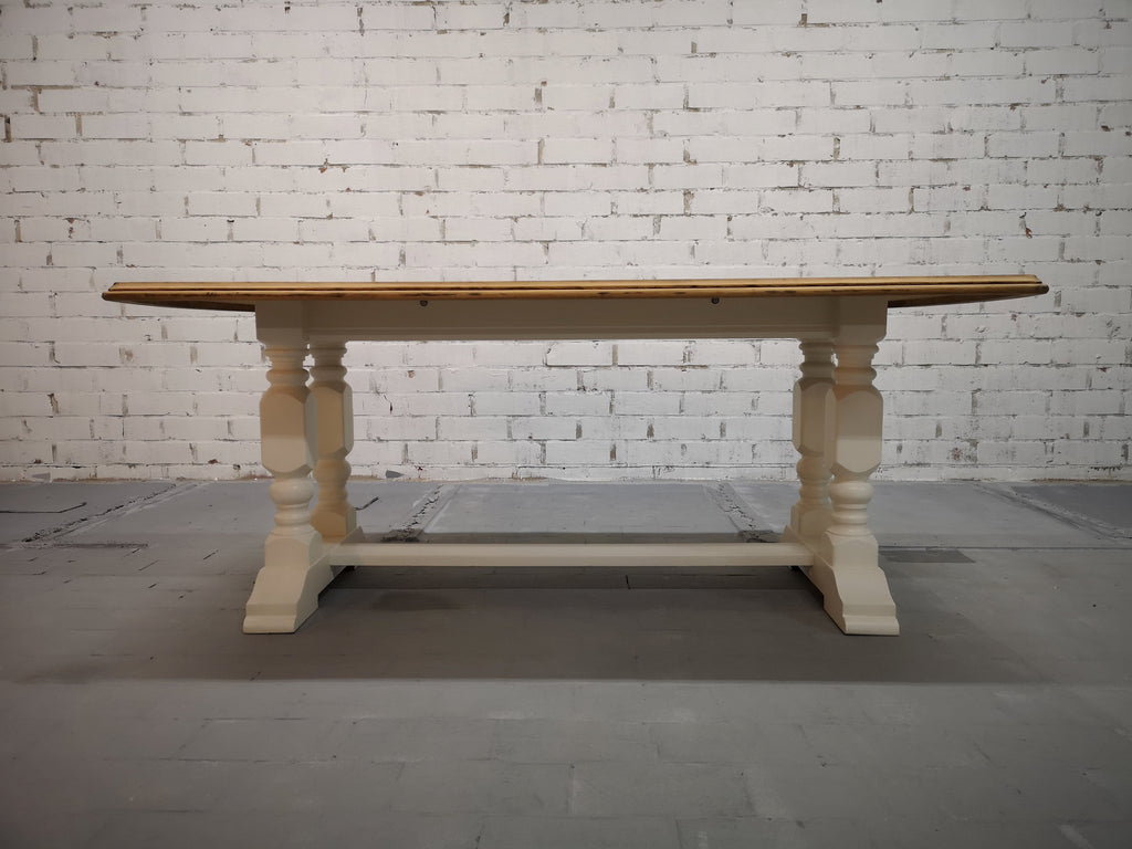 Vintage Restored Like New French Farmhouse Trestle Dining Table Boho Chic