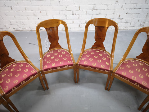 Image of Set of 6 French 1940s Vintage Art Deco Gondola Dining Chairs