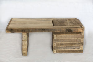 Contemporary poplar coffee table