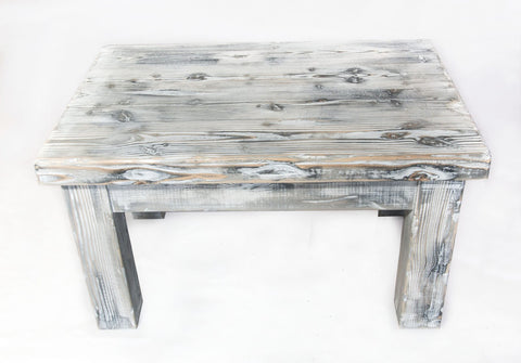 Image of weathered pine coffee table