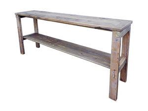 Cottage Sofa Table Natural Color Reclaimed Wood Rustic Distressed by Darvo