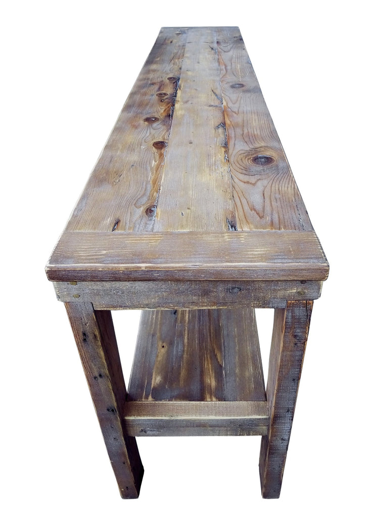 Cottage Sofa Table Natural Color Reclaimed Wood Rustic