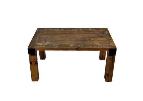 Image of Reclaimed Industrial Wood Coffee Table Handmade European Imported