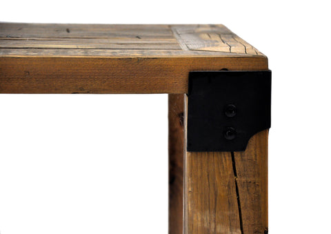 Reclaimed Industrial Wood Coffee Table Handmade European Imported