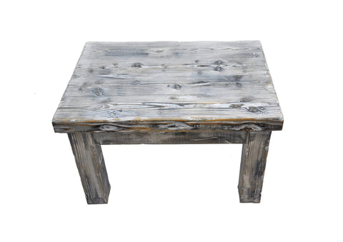 Distressed Weathered Pine Wood Coffee Table