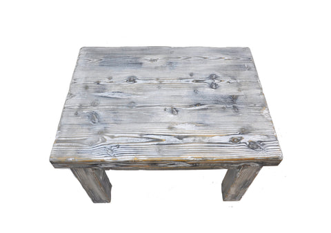 Image of Distressed Weathered Pine Wood Coffee Table