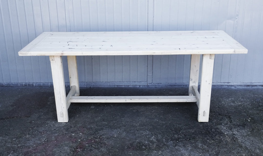 Tap To Expand · Whitewashed Reclaimed Pine Wood Furniture Set Dining Table  Coffee Table Console Table