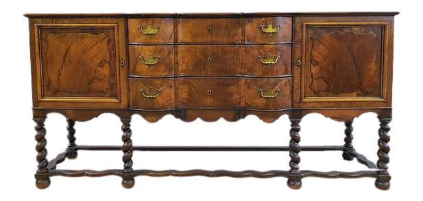Antique French Oak Barley Twist Sideboard Credenza Buffet Server. Tap to  expand - Unique Antique French Oak Barley Twist Sideboard Credenza Buffet