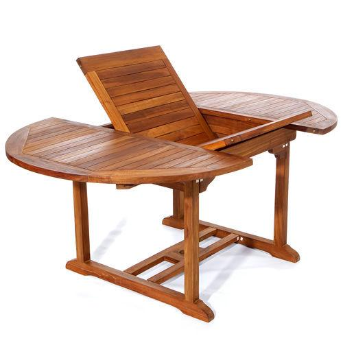 Oval Outdoor Teak Wood 7pc Dining Table 79