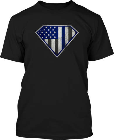 Super Blueline - Mens Patriotic Shirts