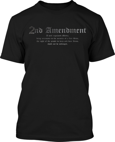 2nd Amendment - Mens Black Patriotic Shirts