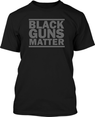 Black Guns Matter  - Mens Patriotic Shirts