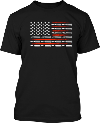 Bullet Flag - Mens Patriotic Shirts