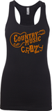 Country Music Carzy - Womens Tank