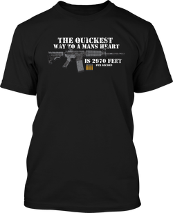 The Quickest wat to a Mans Heart  - Mens Patriotic Shirts
