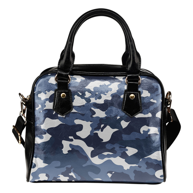 Blue Camouflage Shoulder Handbag