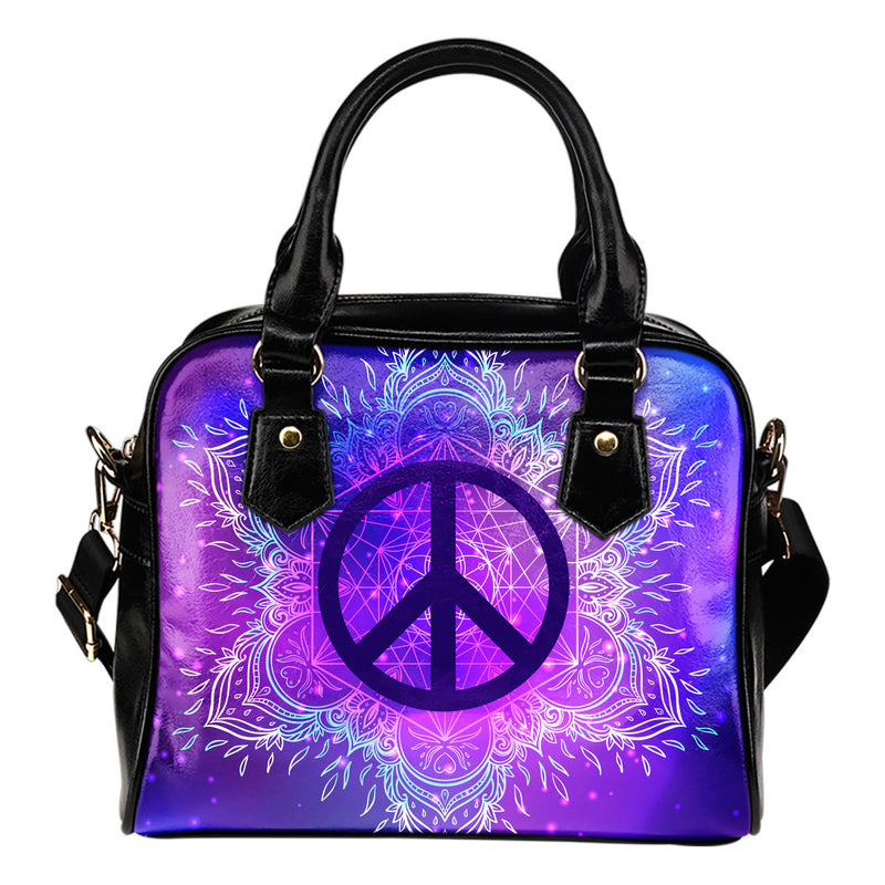 Purple Peace Shoulder Handbag