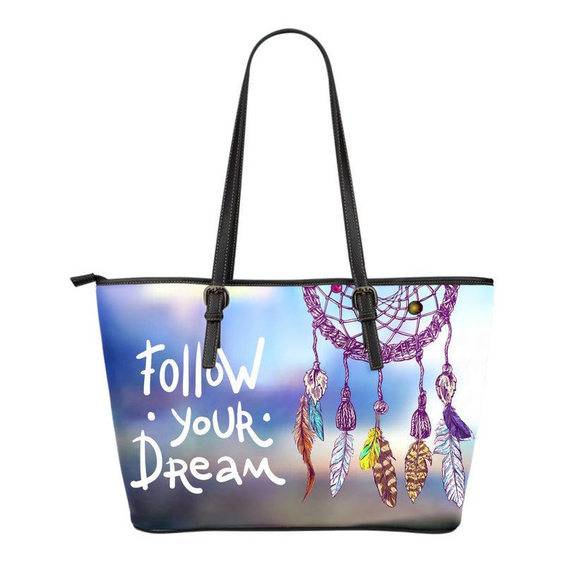 Dream Catcher Leather Tote Bag