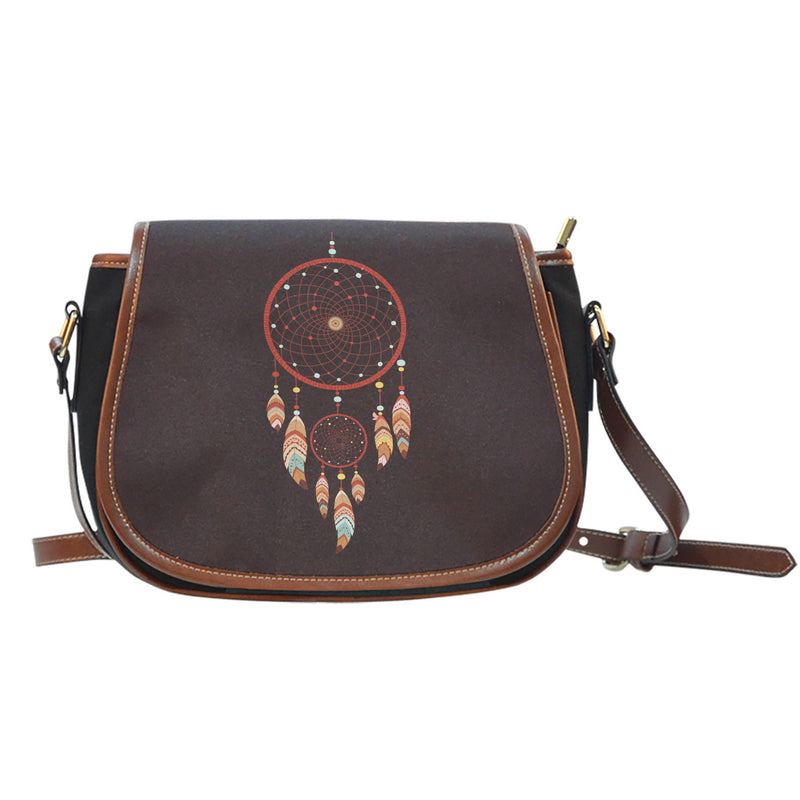 Dream Catcher Canvas/Leather Saddle Bag