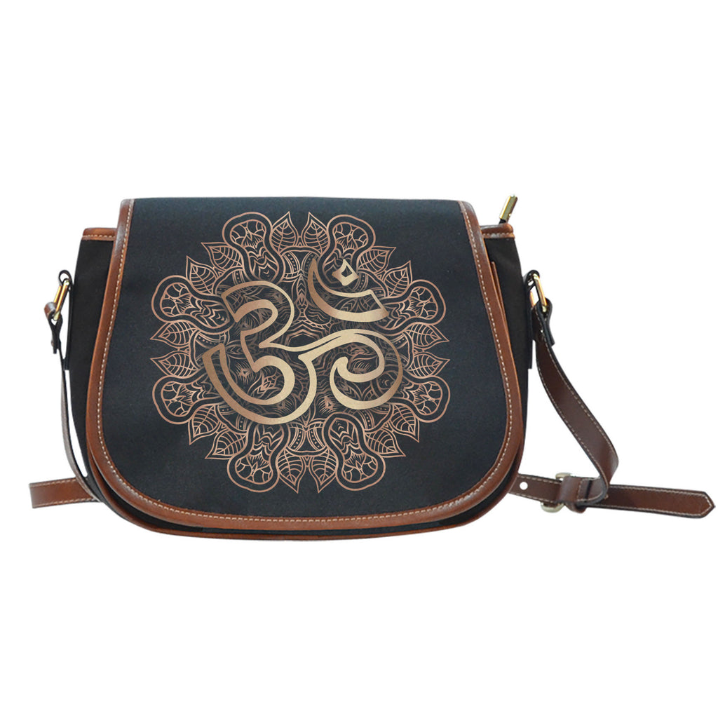 Gold Ohm Canvas/Leather Saddle Bag