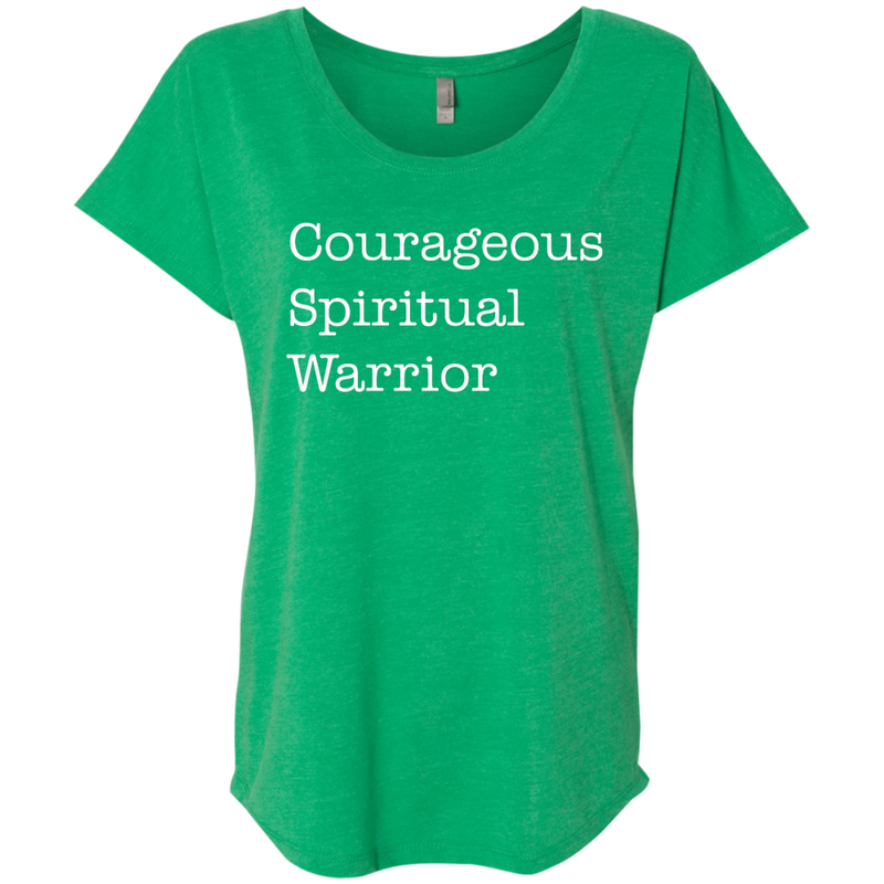 Courageous Spiritual Warrior Dolman Sleeve