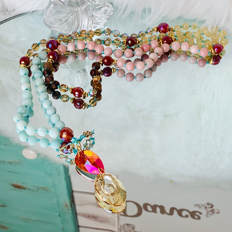 Sedona Sunset Mala Necklace