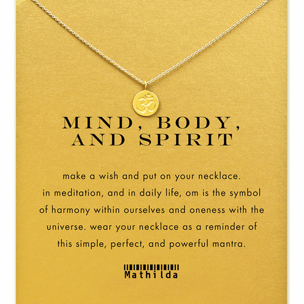 Mind Body and Spirit Om Symbol Necklace